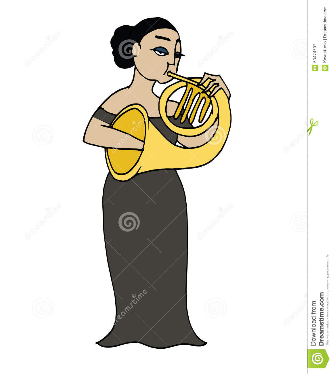 cartoon french hornist musician playing a french horn french horn clip art black and white french horn clip art free