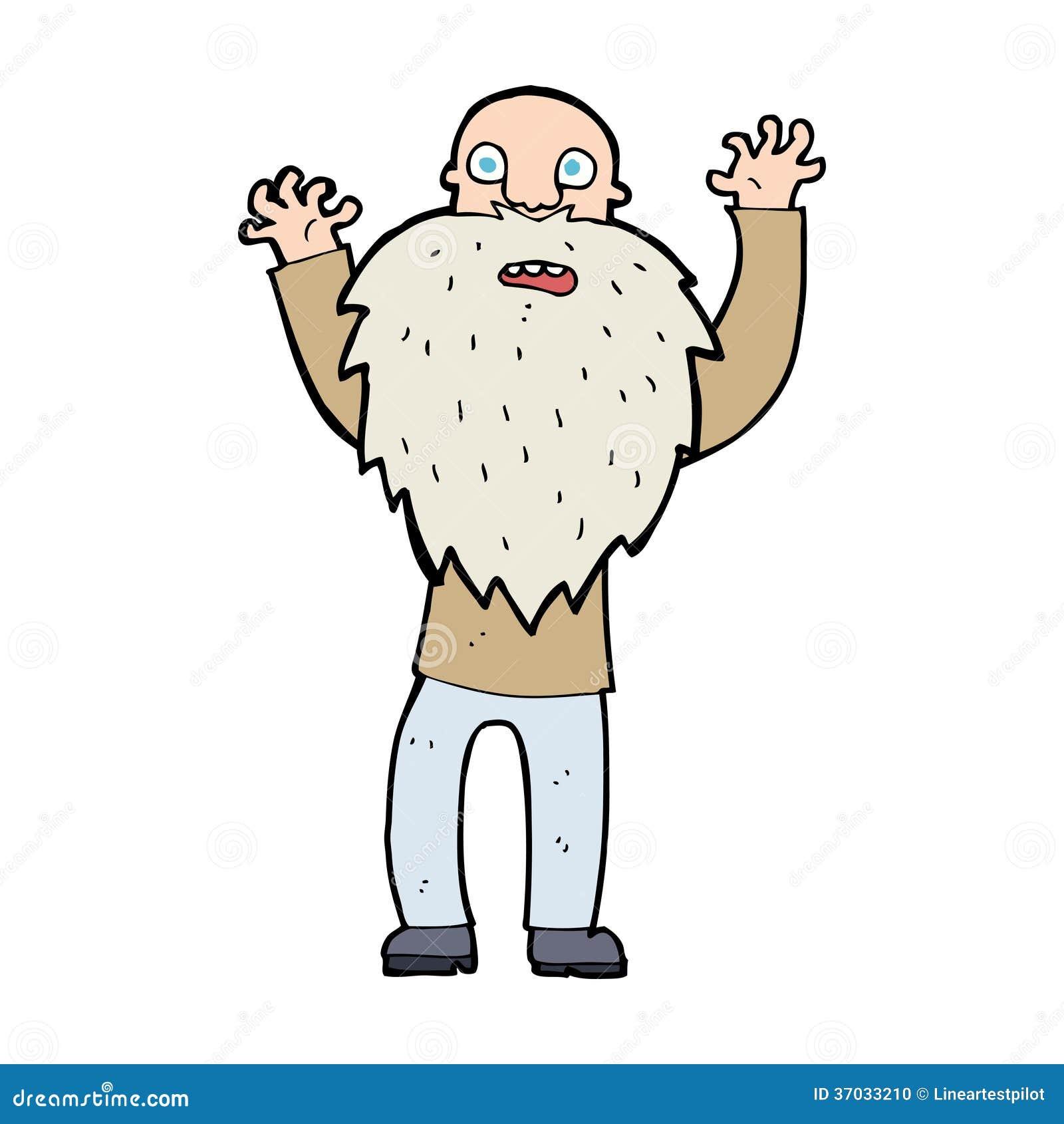 cartoon frightened old man with beard stock vector crazy hair clipart crazy hair clipart