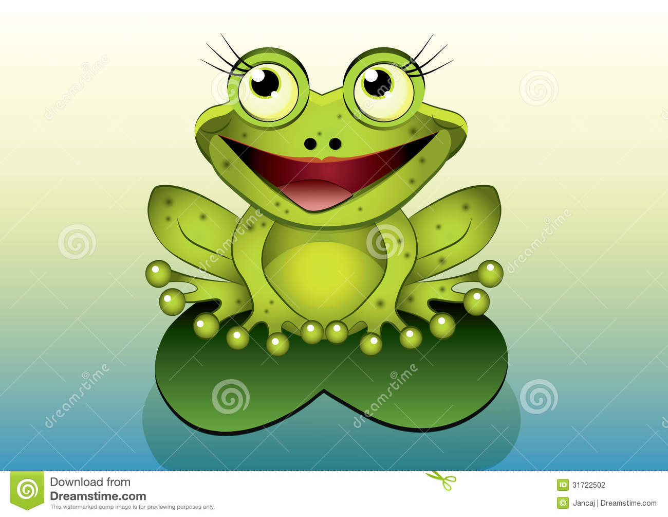 cartoon frog stock photo image 8725240