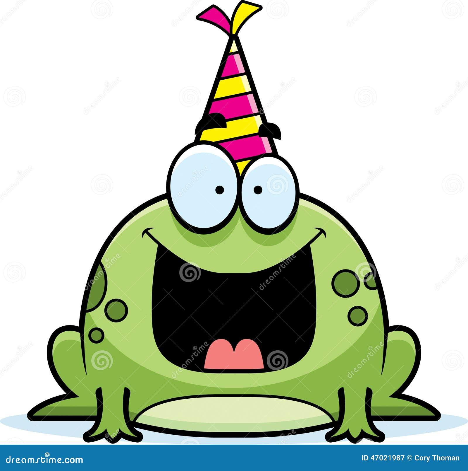 Cartoon Frog Birthday Party Stock Vector Image 47021987