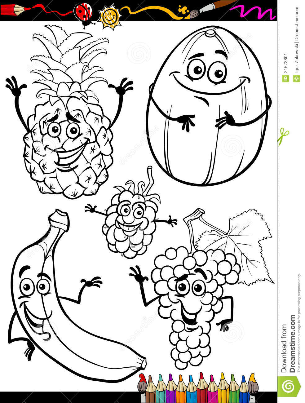 kids coloring pages nutrition foods - photo#50