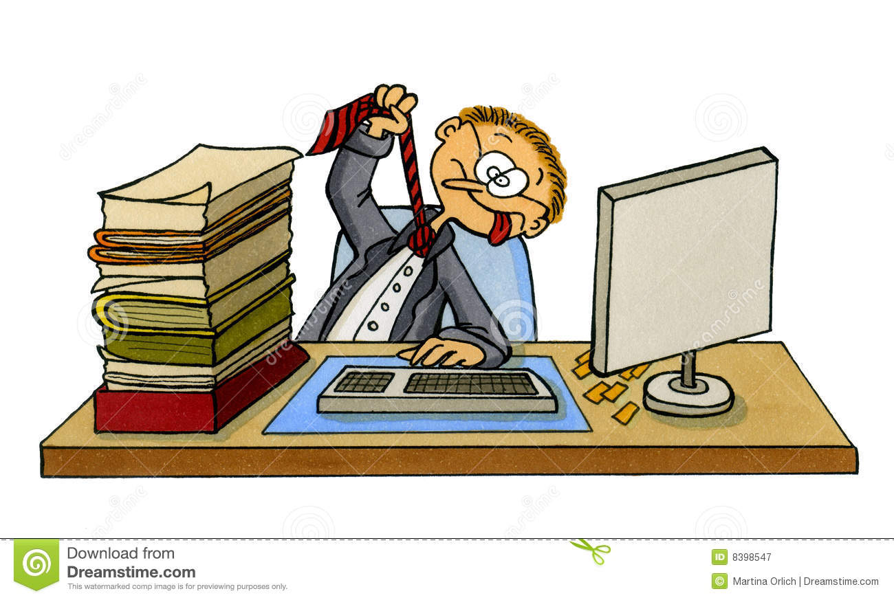 Frustrated Office Work Clipart