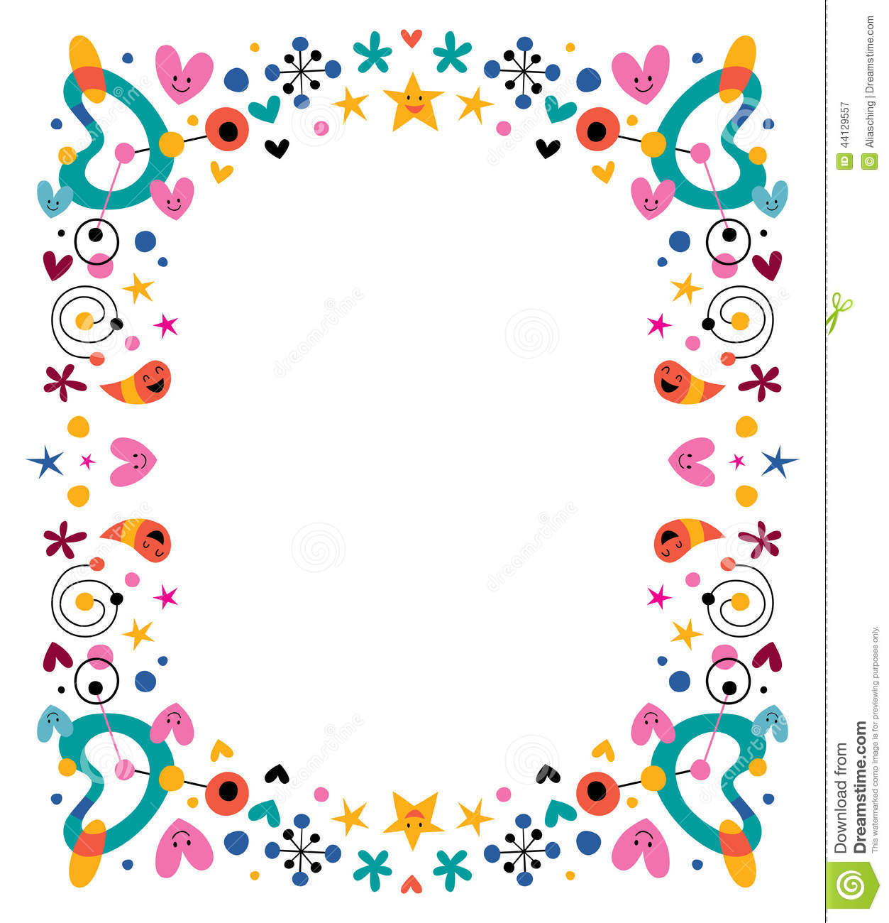 cartoon fun happy frame stock vector image 44129557