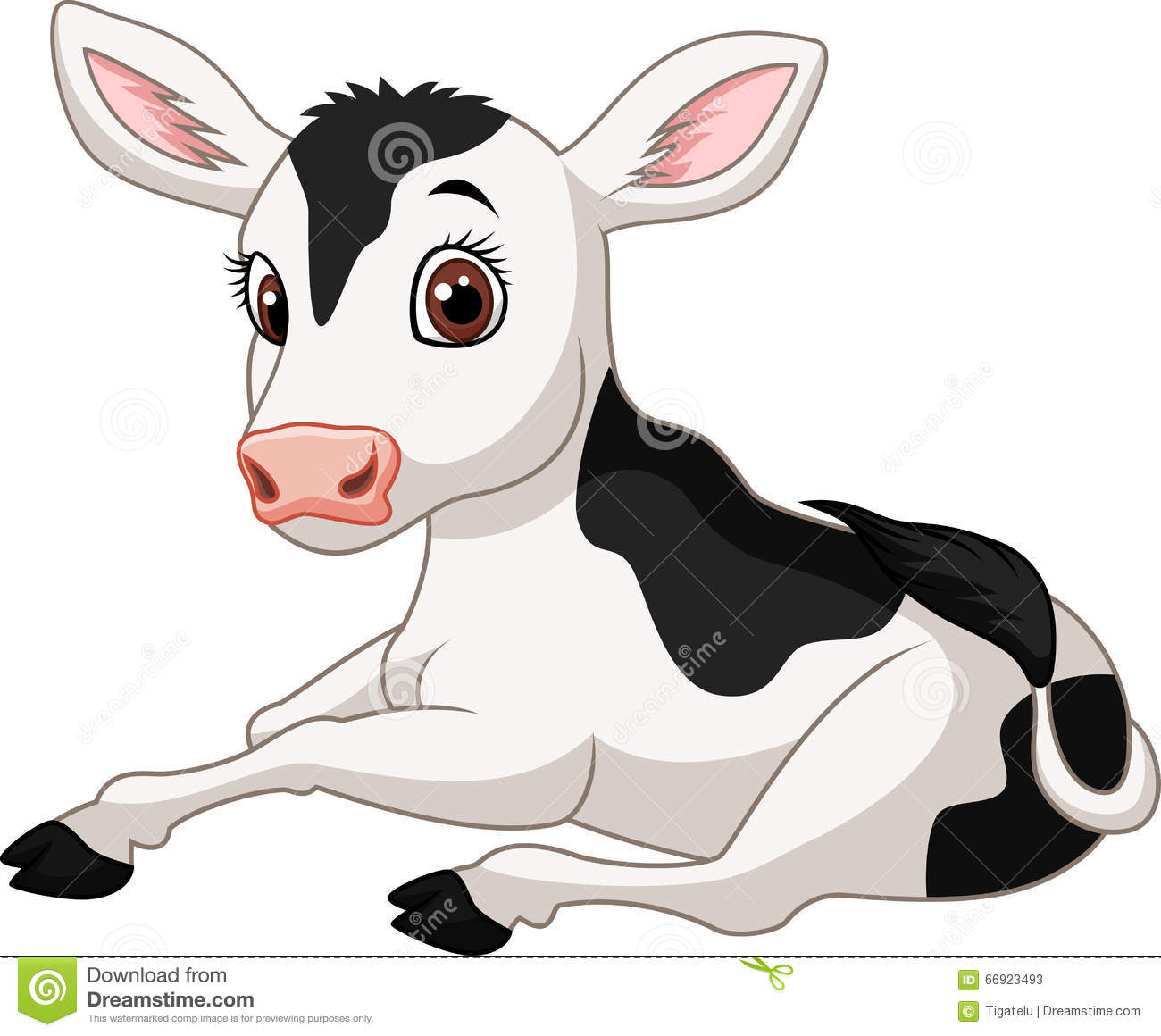 cute cow cartoon sitting stock images image 33233144