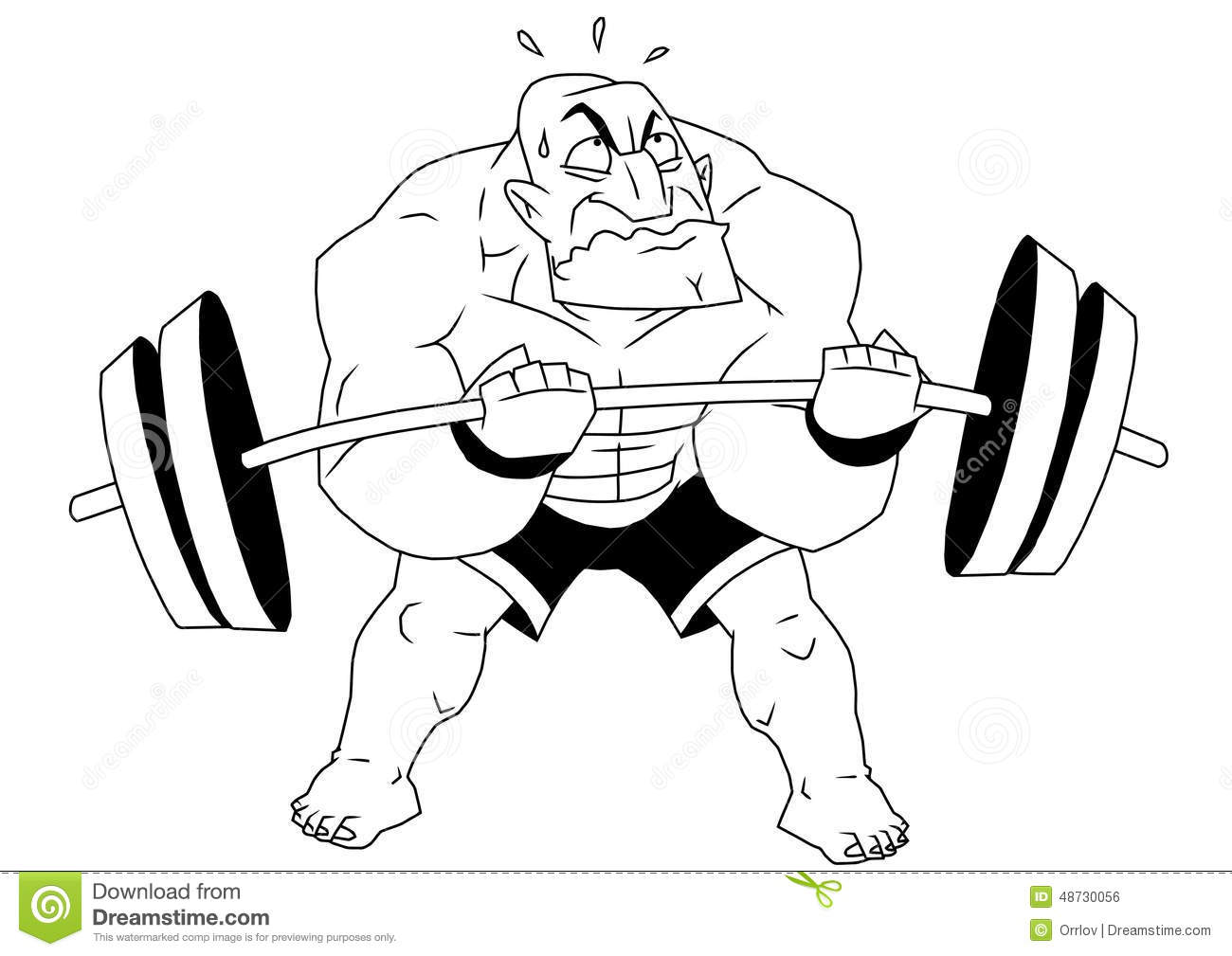 Cartoon funny bodybuilder vector illustration - Cartoon body builder ...