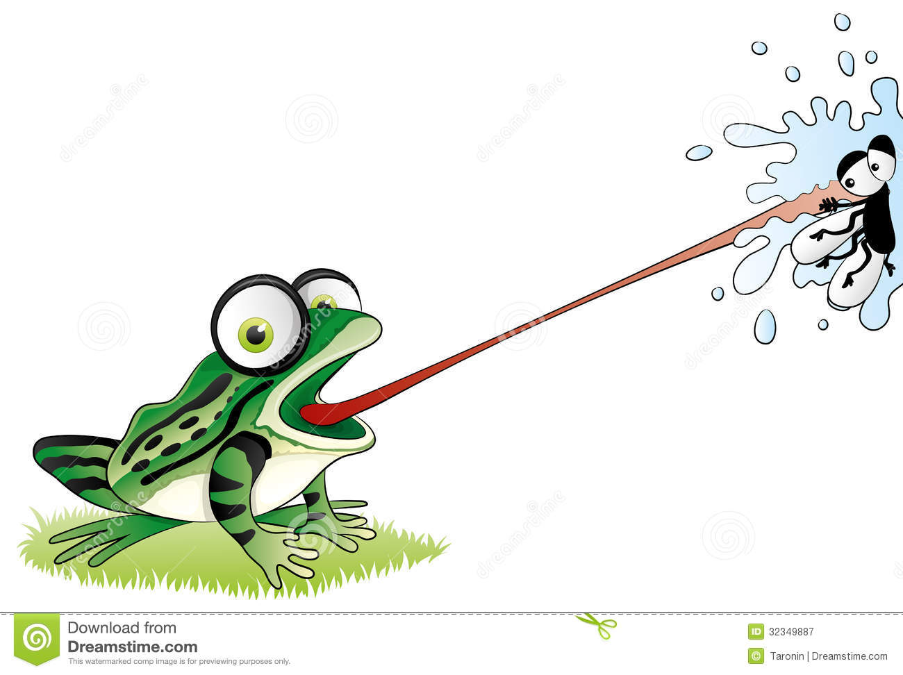Cartoon Funny Frog. Royalty Free Stock Photography - Image ...