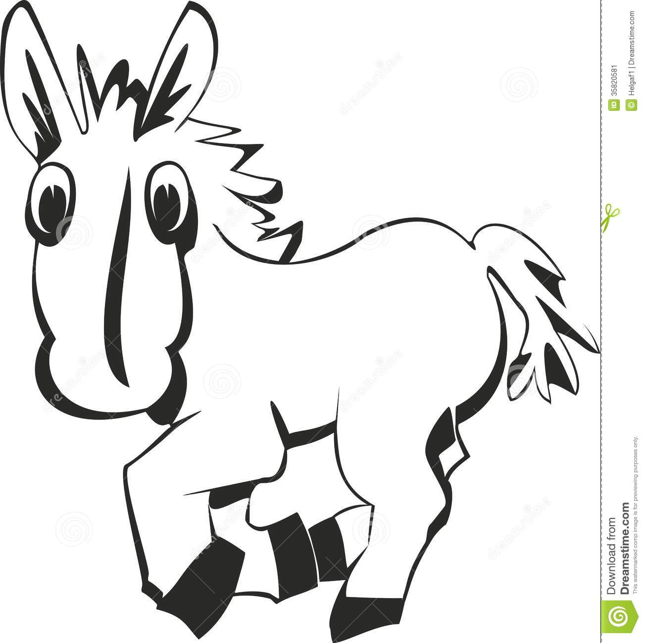 Cartoon Funny Horse Stock Vector Illustration Of Drawing 35820581