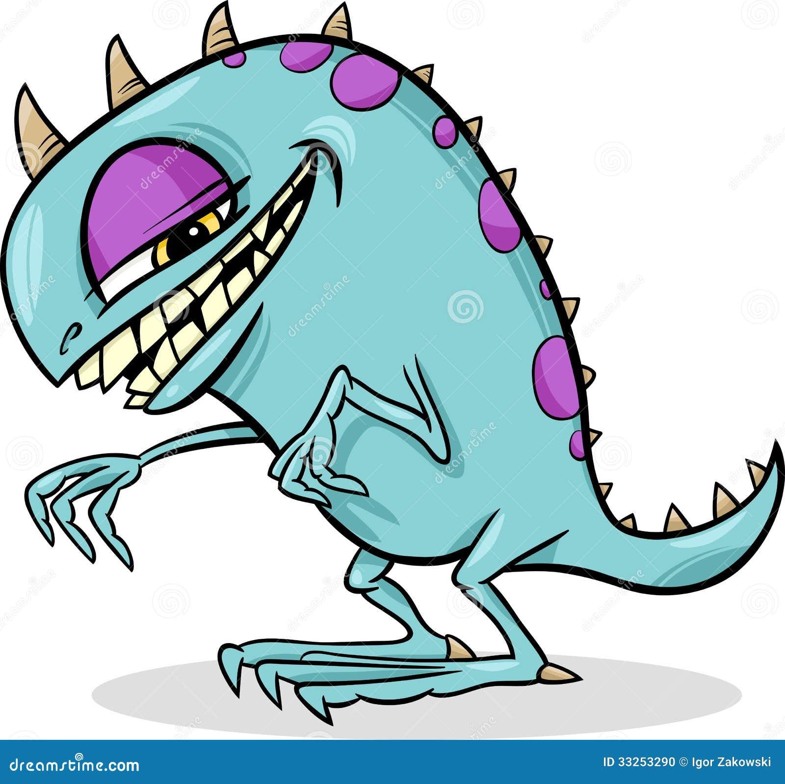 Cartoon Funny Monster Illustration Stock Photo - Image: 33253290