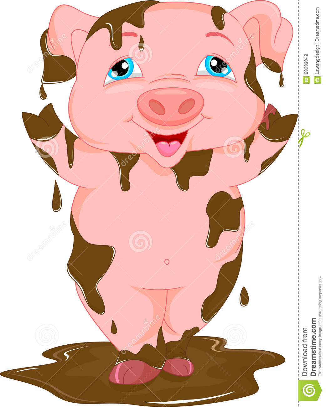 Animated pigs standing - photo#17