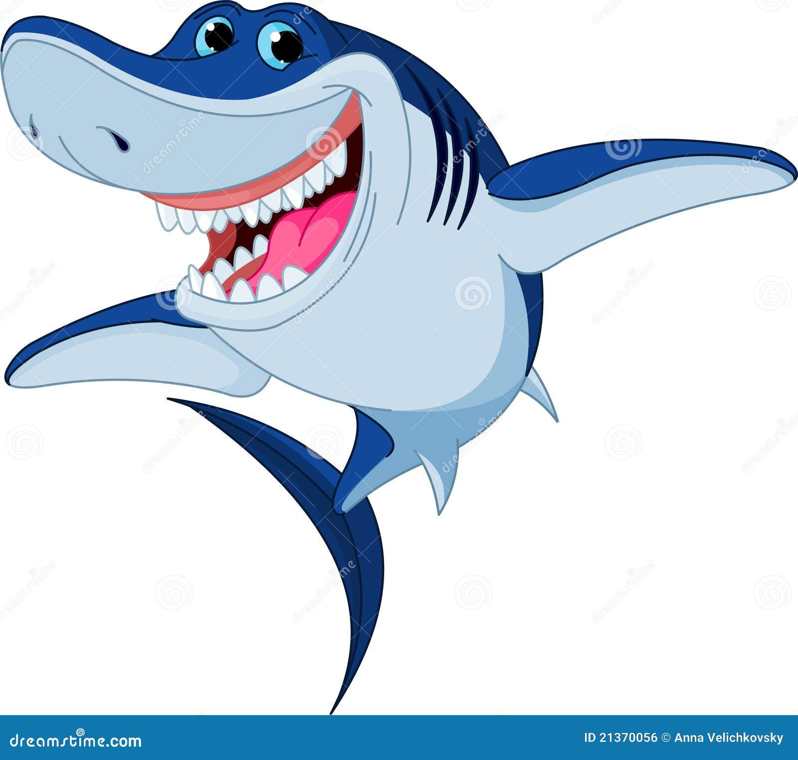 Cartoon Funny Shark Royalty Free Stock Image - Image: 21370056