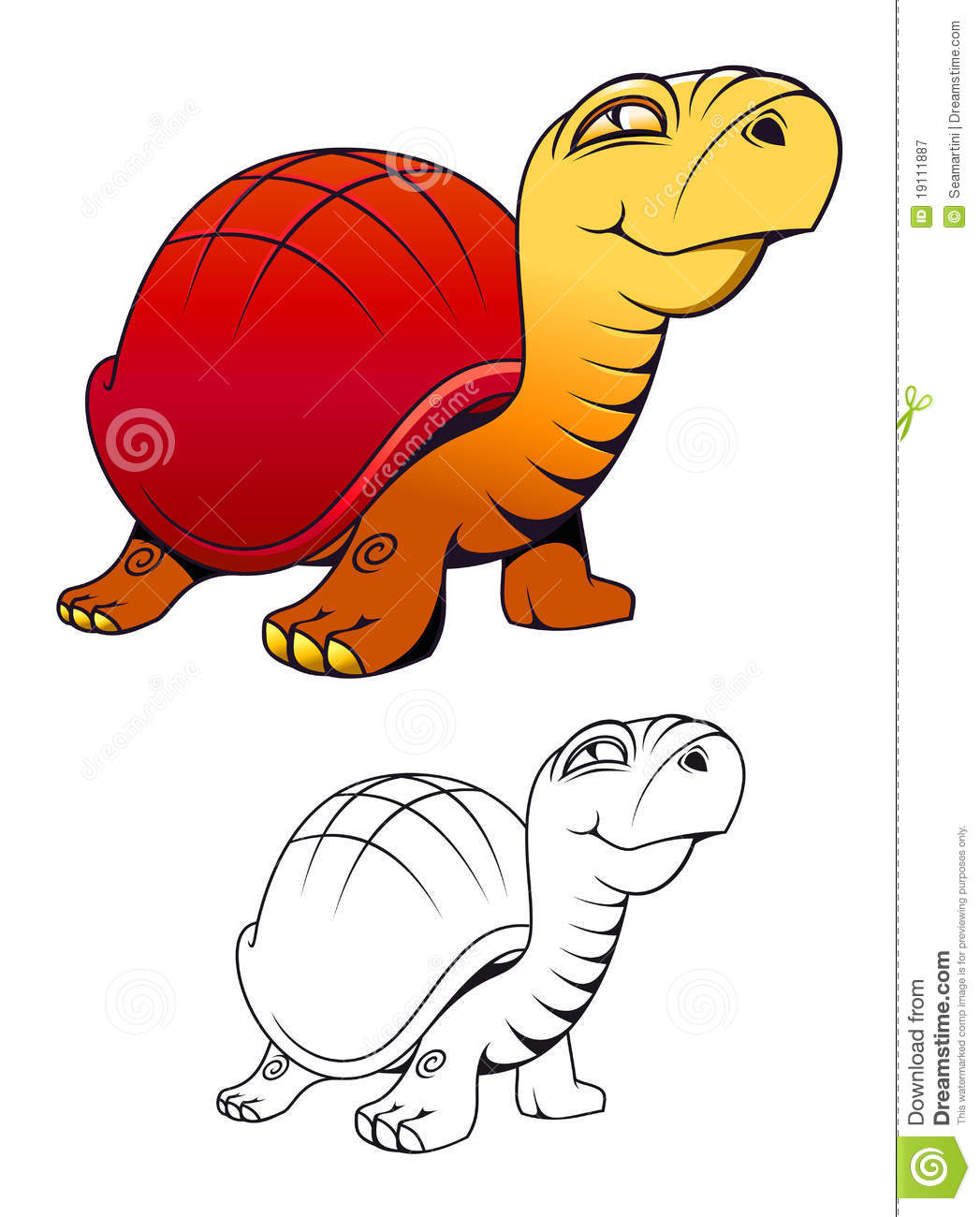cartoon funny turtle royalty free stock photography image 19111887