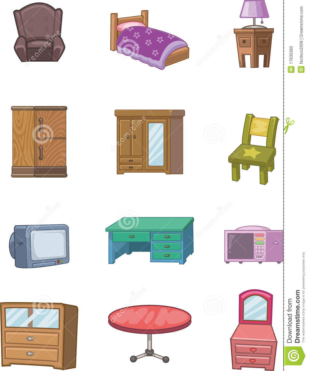 Cartoon furniture icon stock photo image 17635360 for Muebles para el hogar