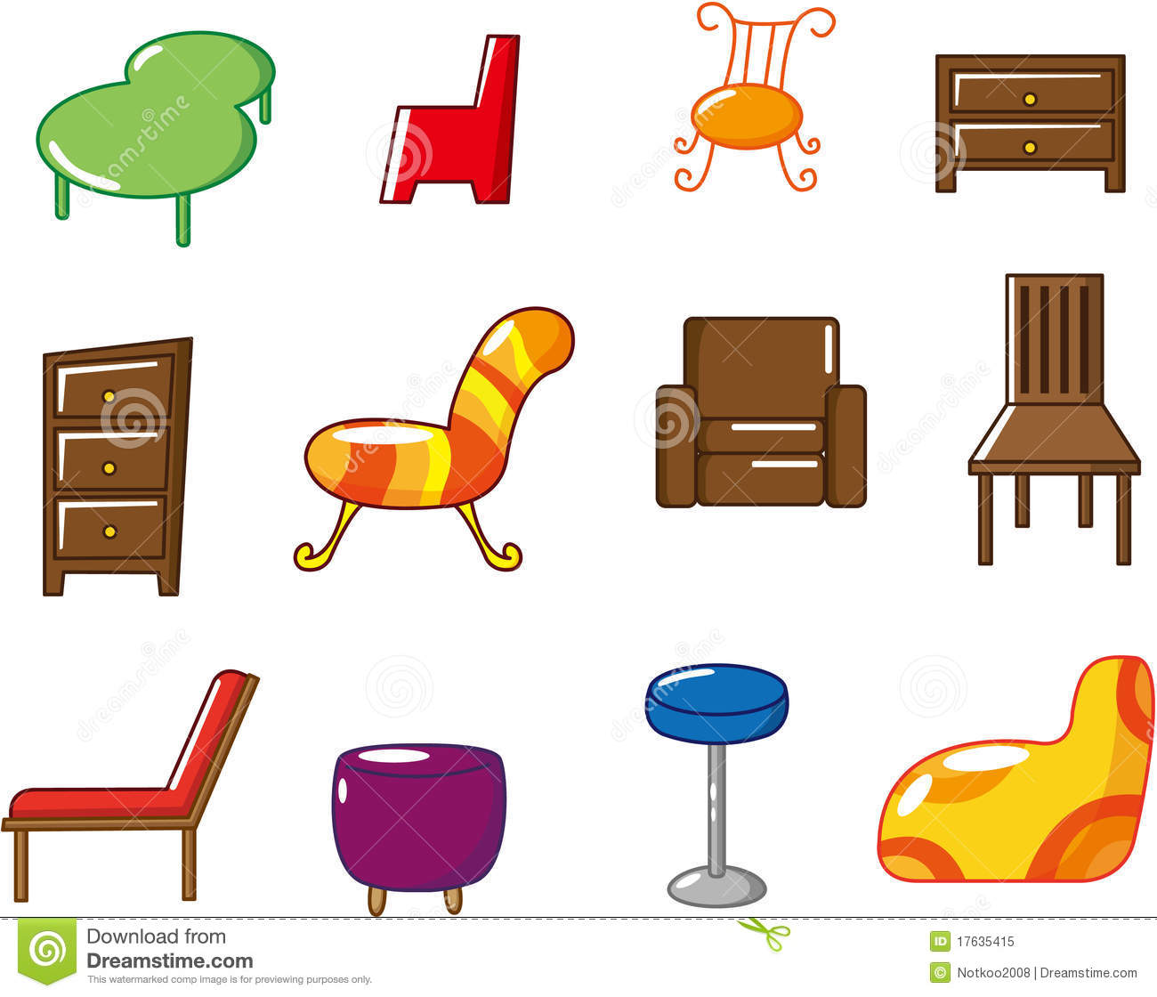 Cartoon Furniture Icon Royalty Free Stock Photo - Image: 17635415