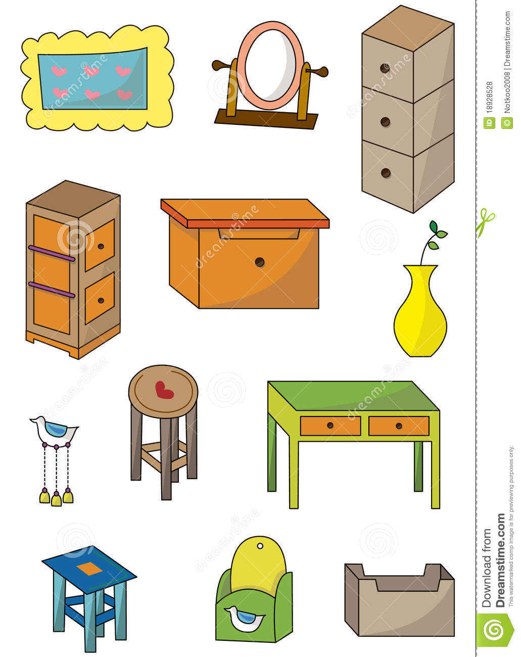 Cartoon furniture icon stock vector illustration of draw - Articulos de hogar baratos ...