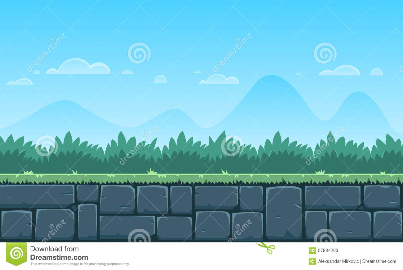 Royalty Free Vector Download Cartoon Game Background