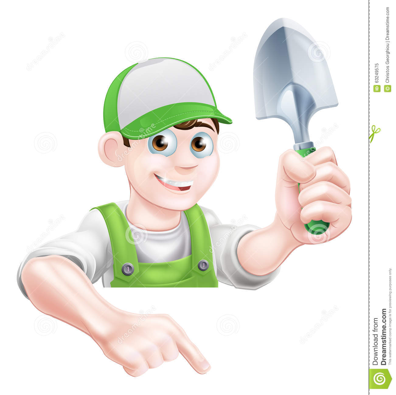Cartoon Character Design Tool : Cartoon garden man with trowel stock vector image
