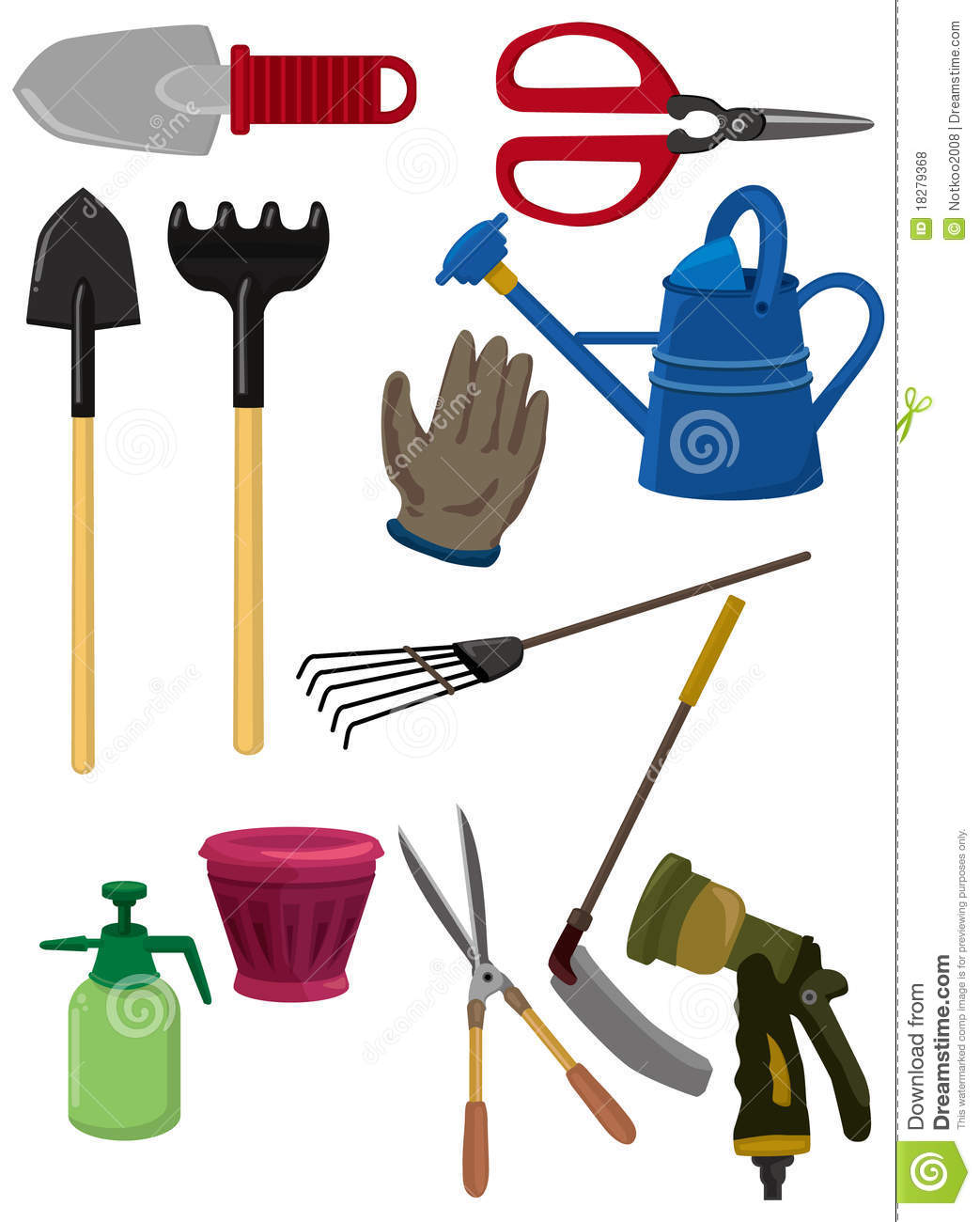 Cartoon gardening icon royalty free stock photos image for Gardening tools cartoon