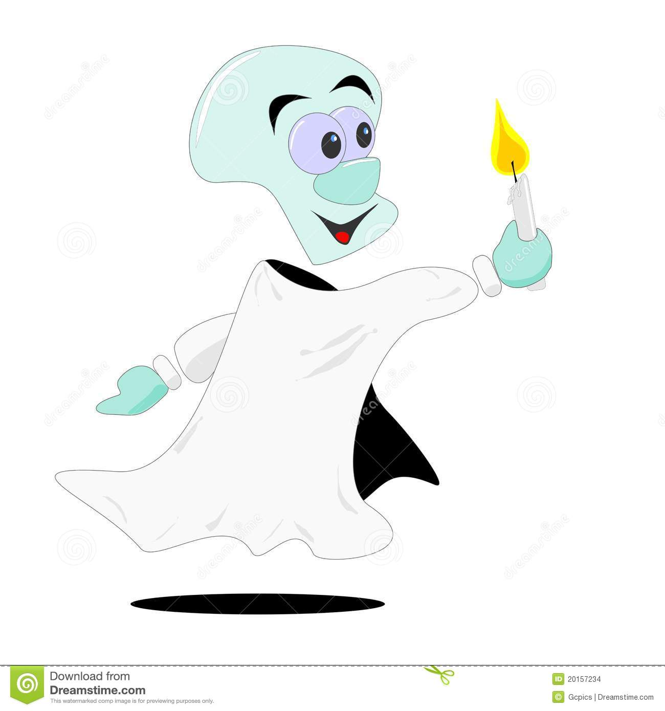 how to call a ghost with a candle