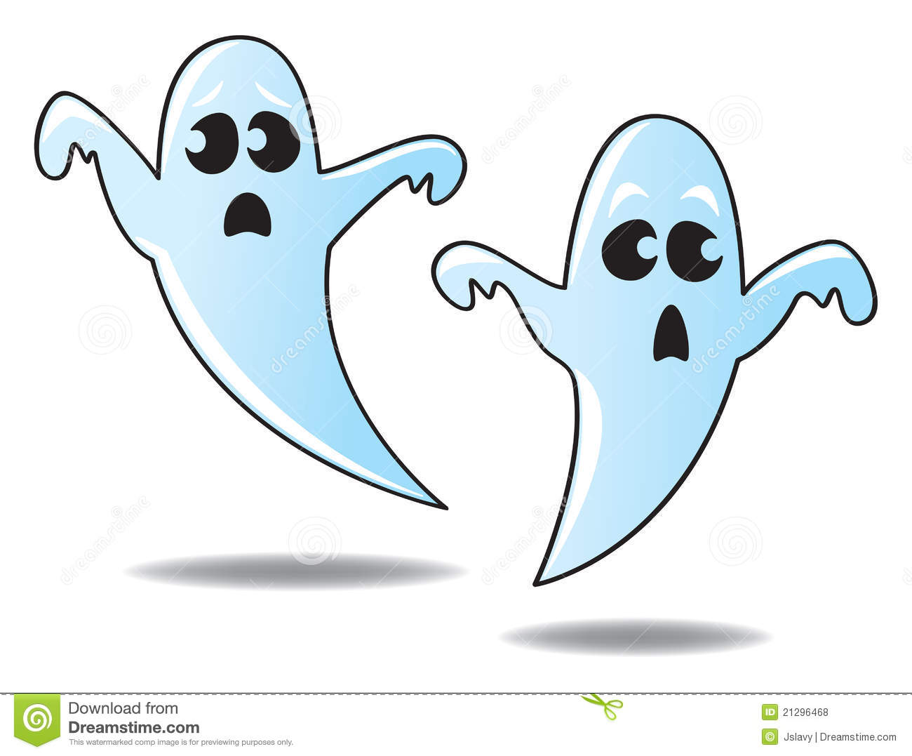 Cartoon Ghosts Royalty Free Stock Photos - Image: 21296468