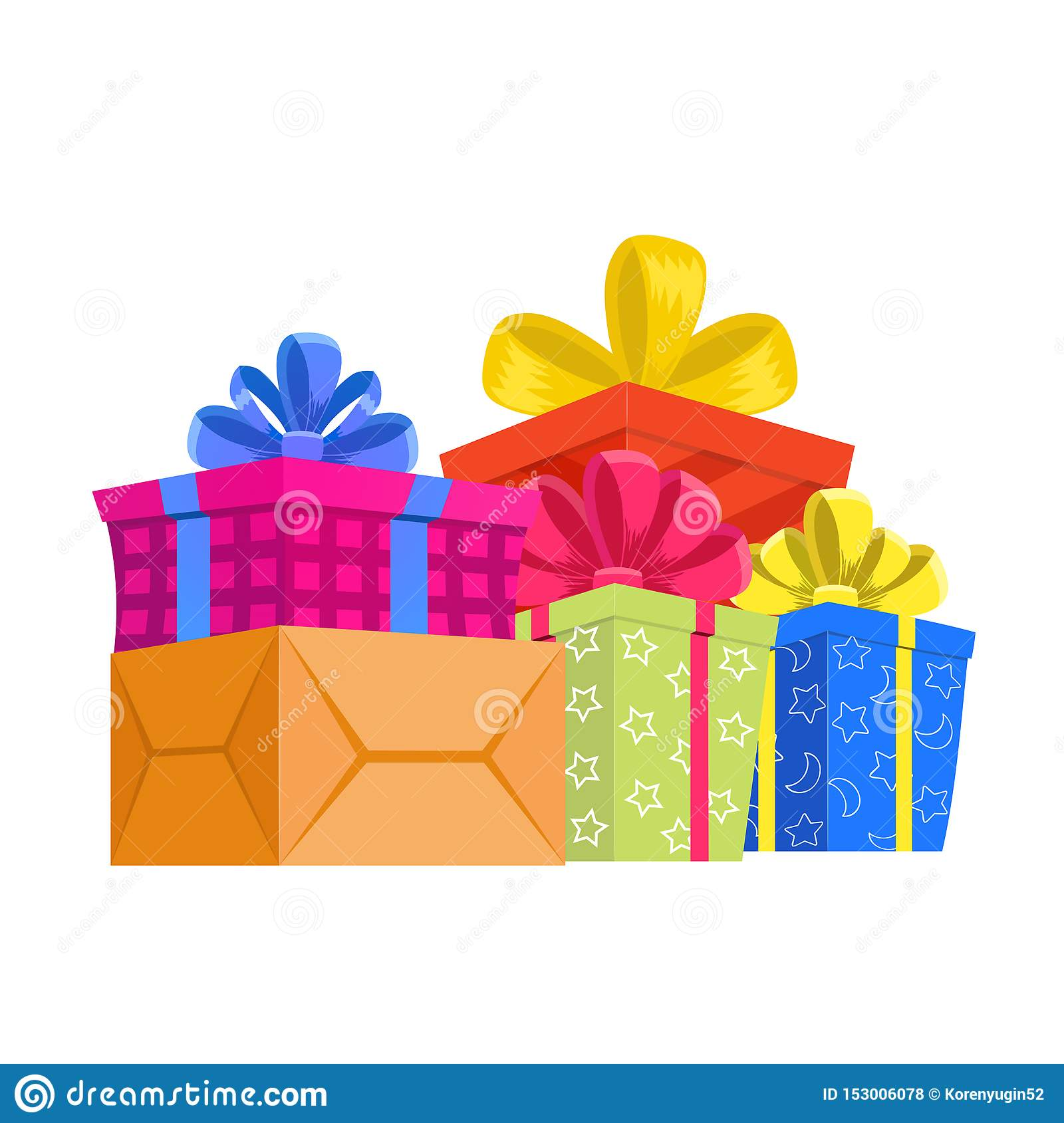Cartoon Gift Box Christmas Present Gifting Box And Xmas Present Winter Holidays Or Birthday Party Gift Sign Secret Boxing With Stock Vector Illustration Of Boxing Interchange 153006078