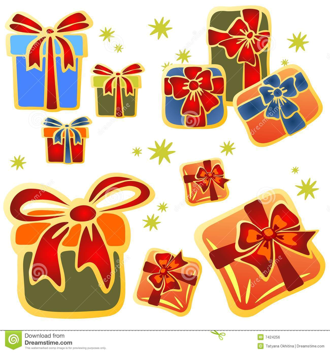 Cartoon gift boxes stock vector illustration of drawing 7424256 cartoon gift boxes negle Gallery