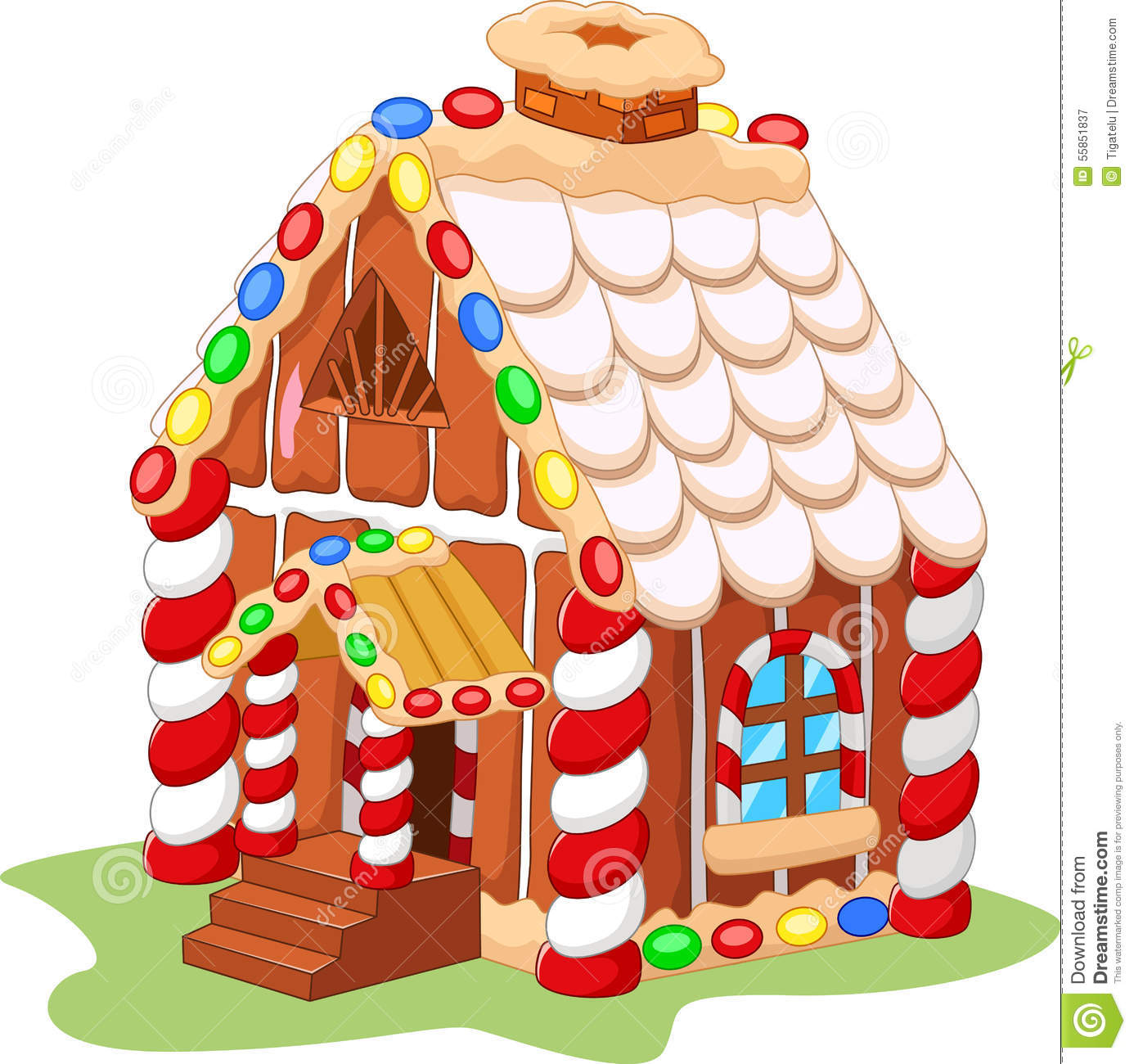 Cartoon Gingerbread House Stock Vector Illustration Of