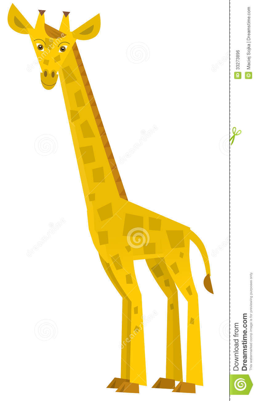 Beautiful and colorful illustration of a giraffe for kids Giraffe Clipart For Kids