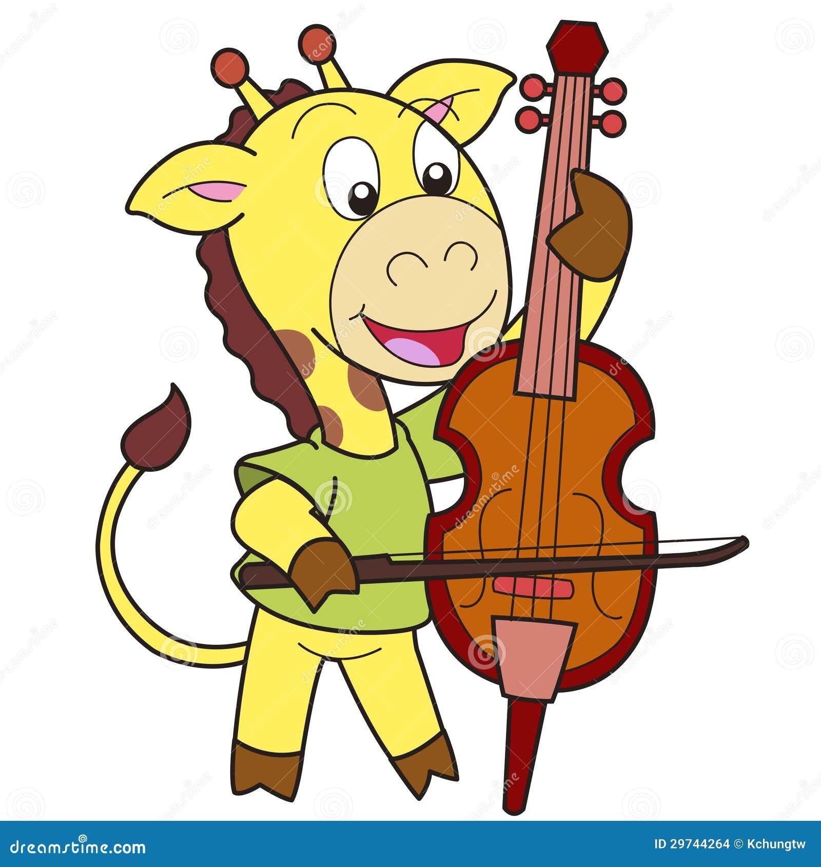 Cello cartoon cello player stock photography image 32561422 - Cartoon Giraffe Playing A Cello Stock Images