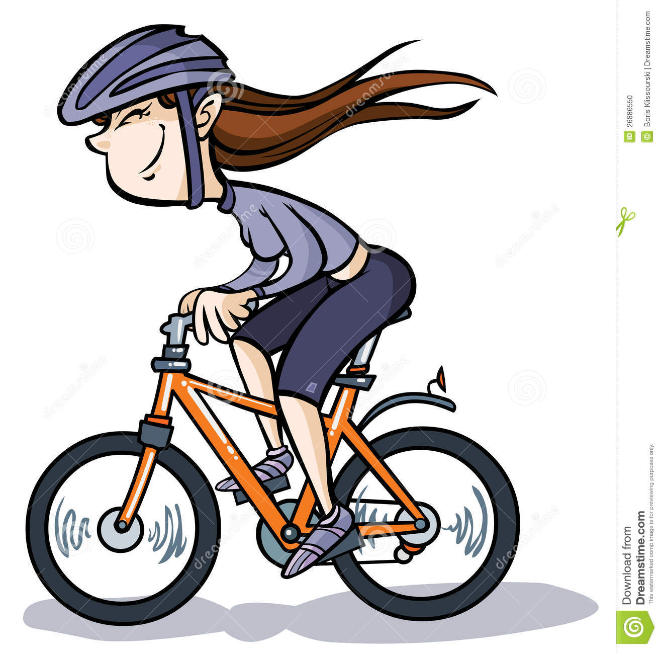 cartoon girl on bike stock vector illustration of transportation rh dreamstime com cycling clipart free cycling clipart graphics