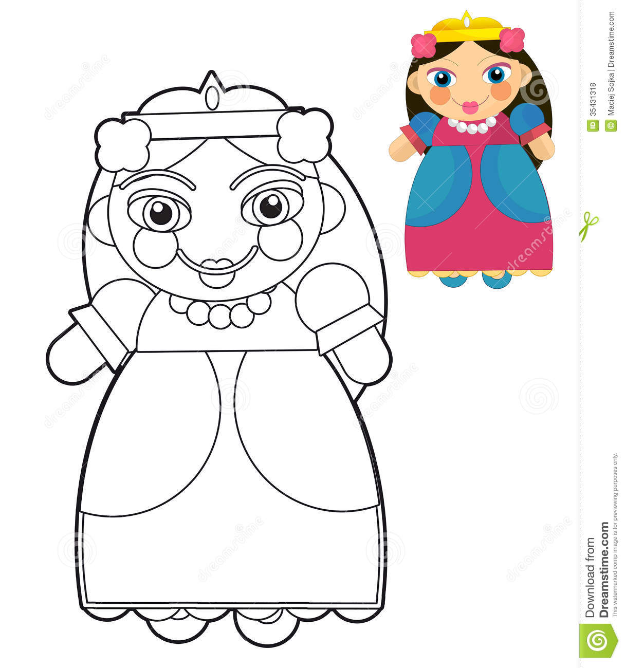 coloring images of doll alltoys for