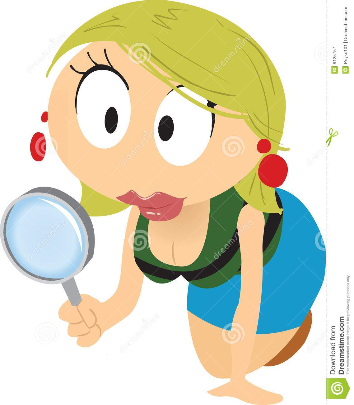 Cartoon Girl Searching Royalty Free Stock Photography - Image: 9125757