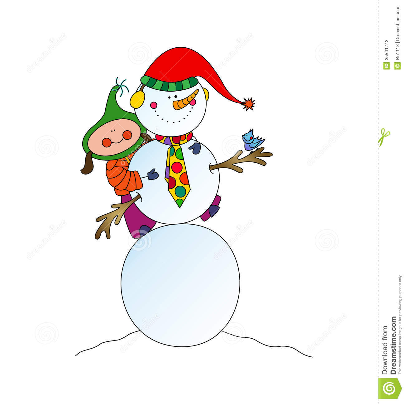 snowman fun stock illustration image of elementary
