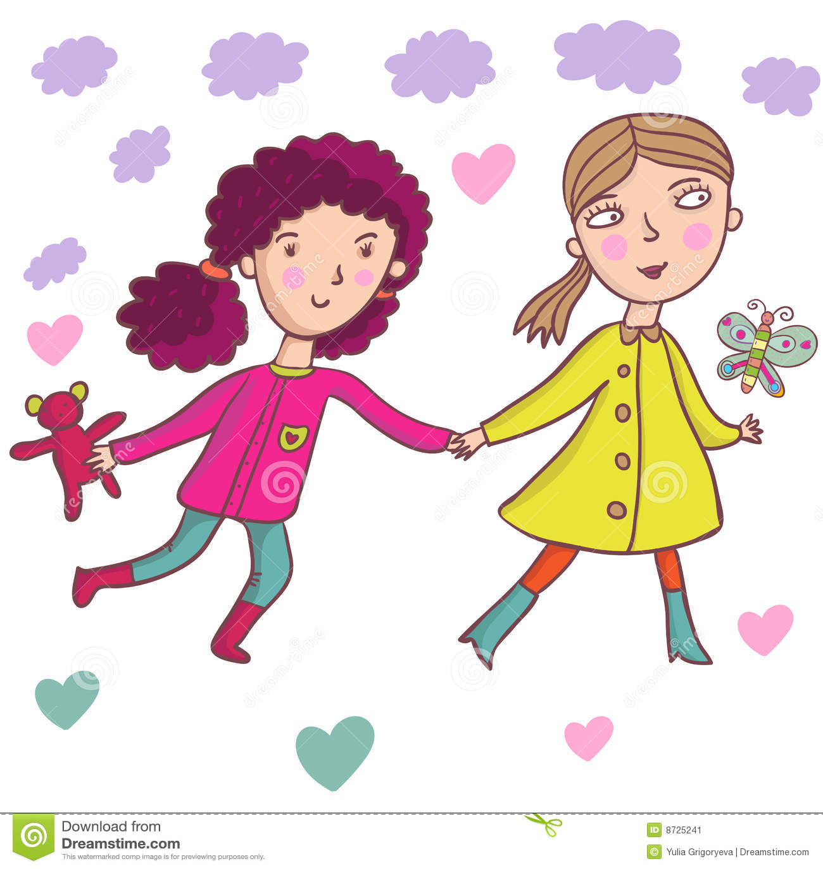 Cartoon Girls Stock Image - Image: 8725241