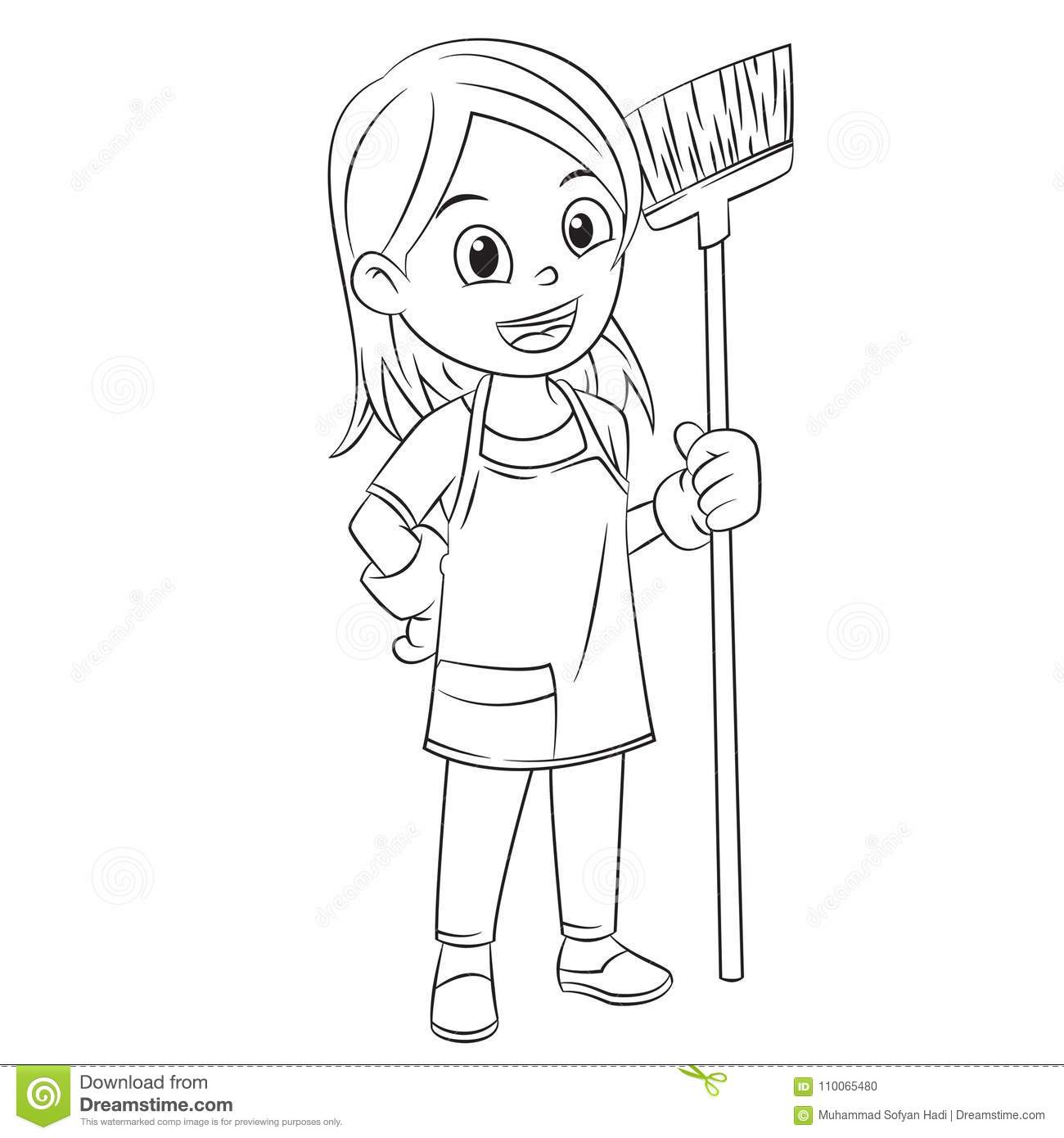 mother house cleaning coloring pages - photo#2