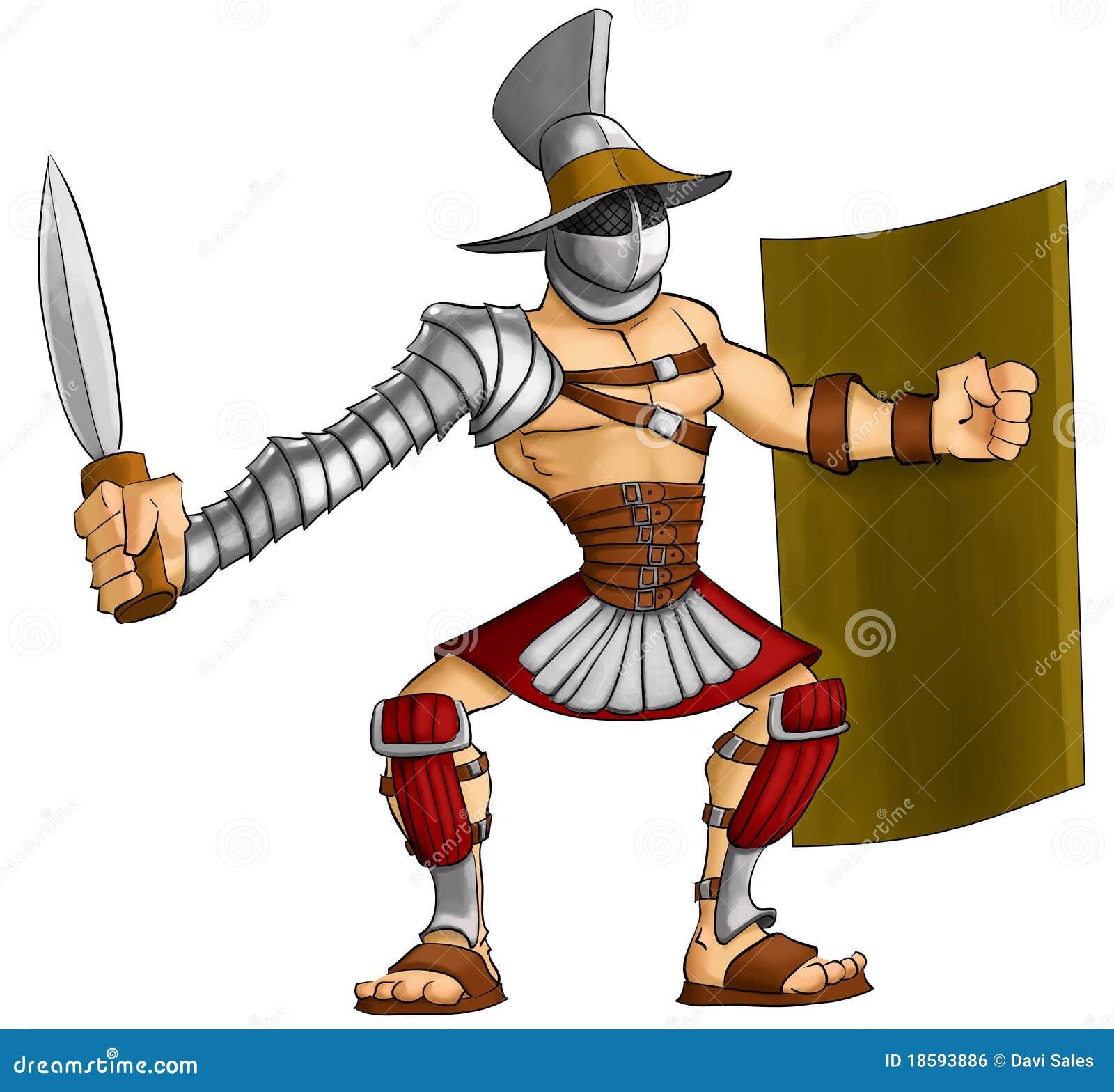 Рисованный гладиатор