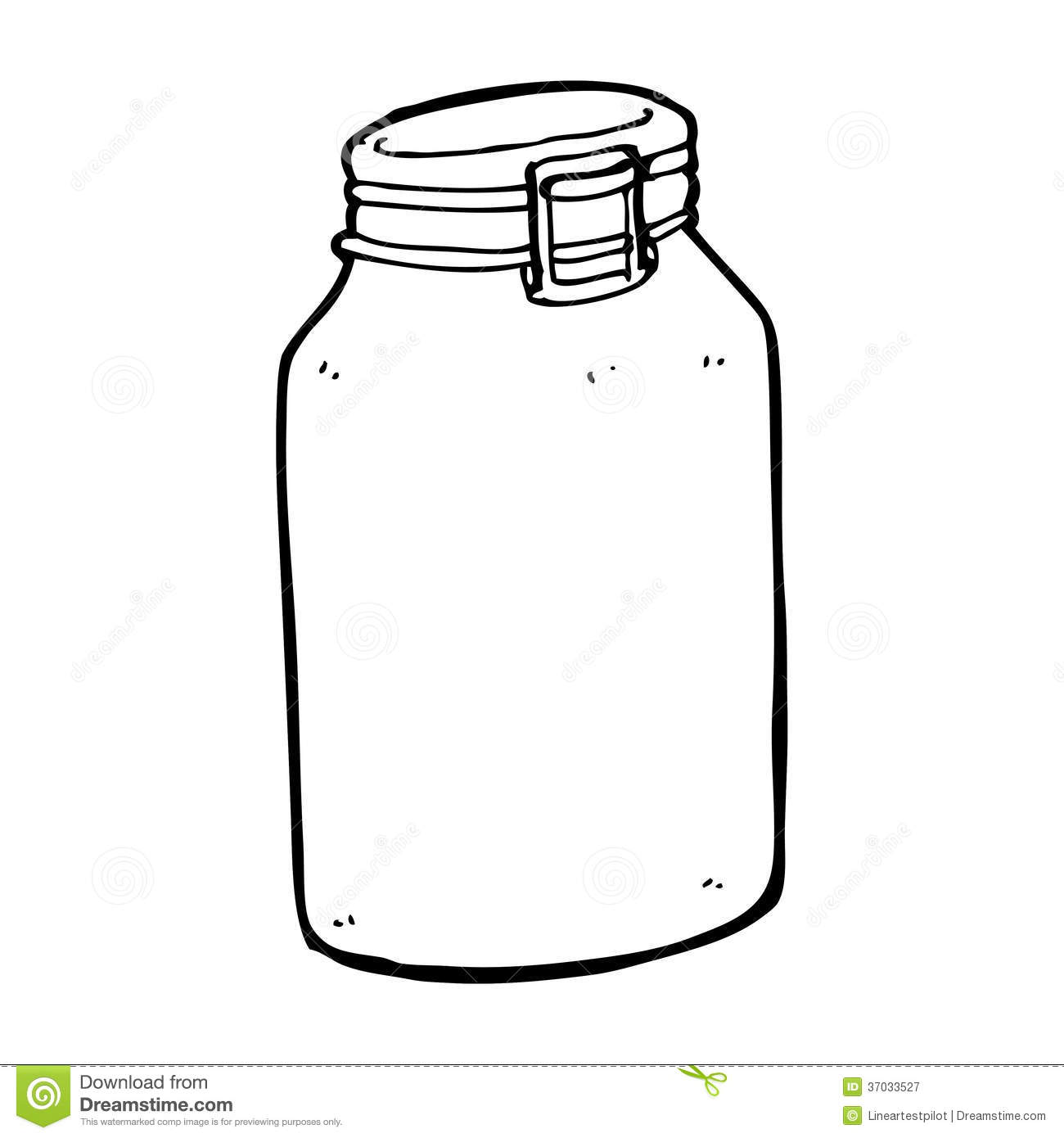 Line Drawing Jar : Cartoon glass jar stock illustration of
