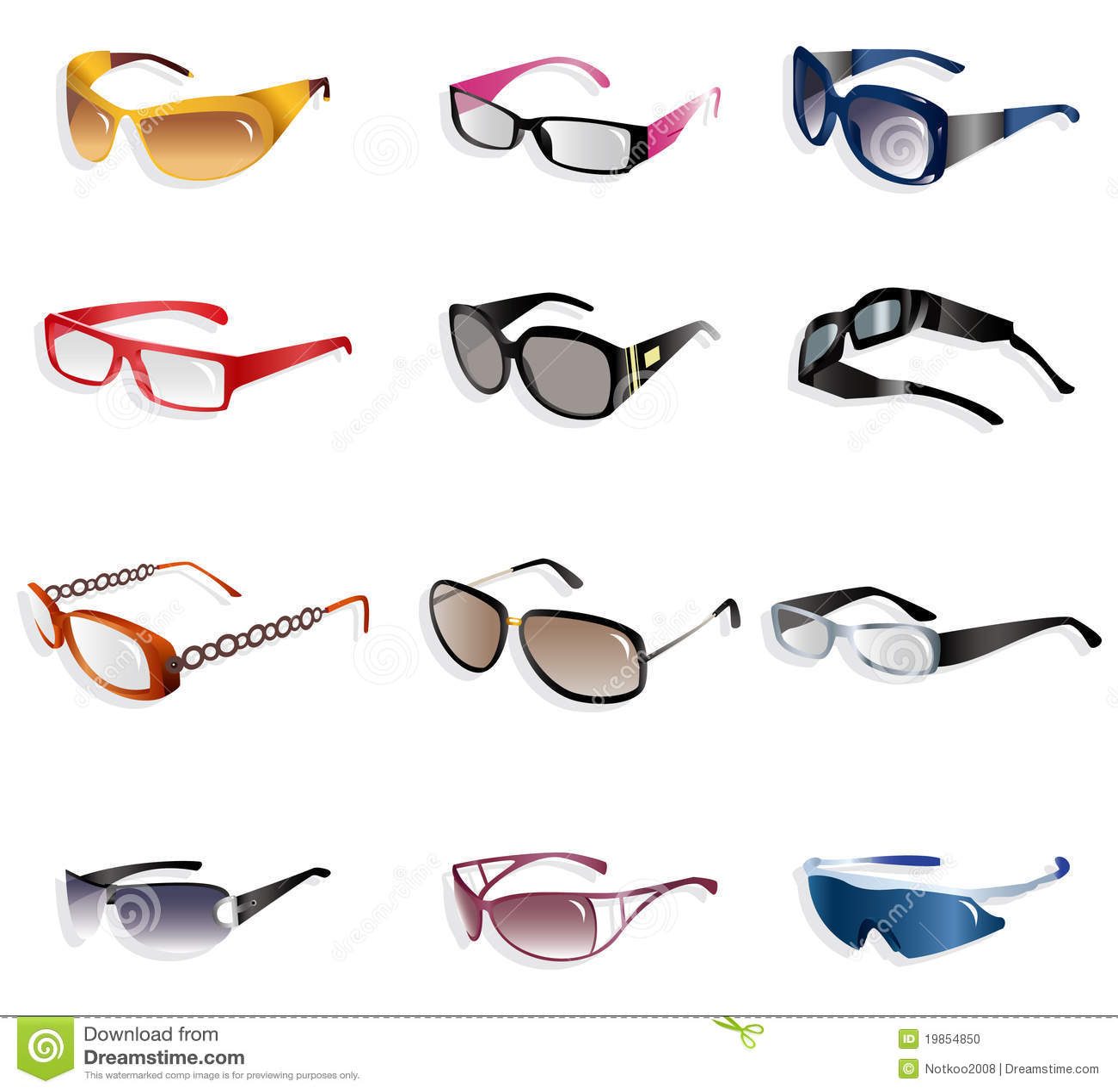 Cartoon glasses icon stock photo image