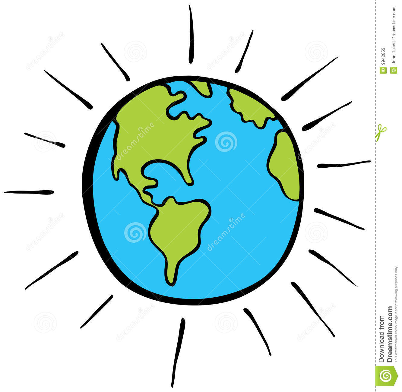 Cartoon Globe Stock Photos - Image: 9942853