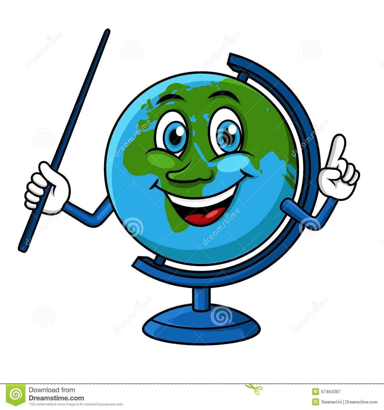 cartoon globe character with pointer stock vector world globe clipart free world globe clipart black white