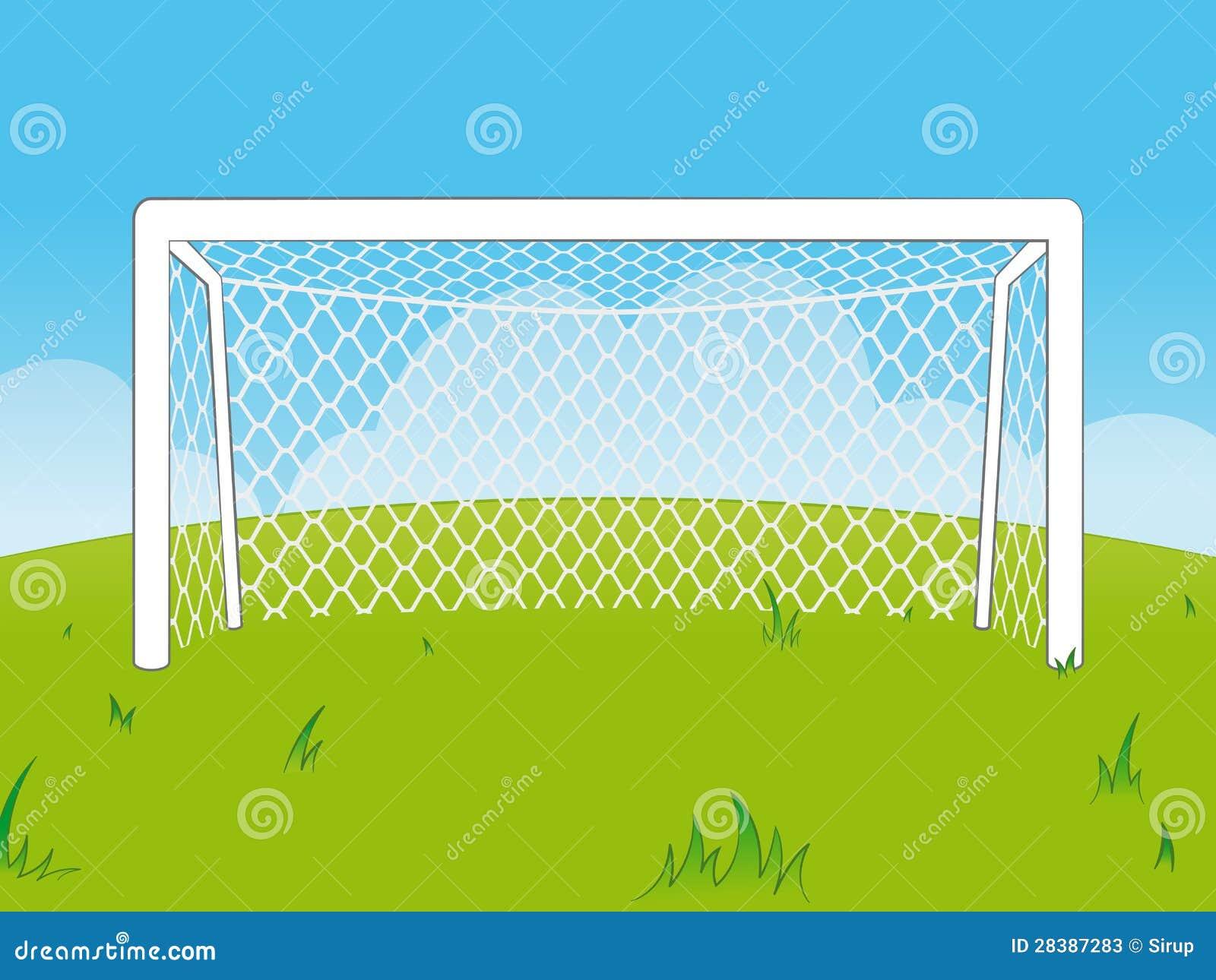 cartoon goalposts with a net stock photos image 28387283 field goal clip art free editable field hockey goal clipart
