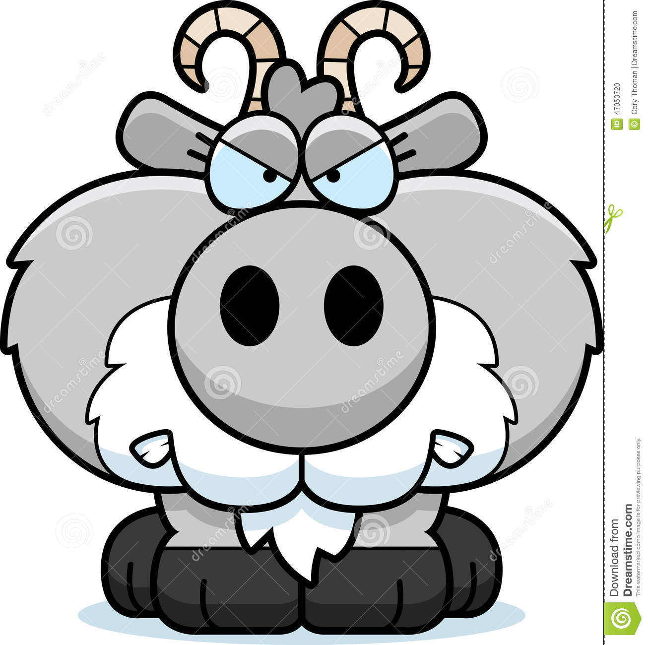 Cartoon Goat Angry Stock Vector - Image: 47053720