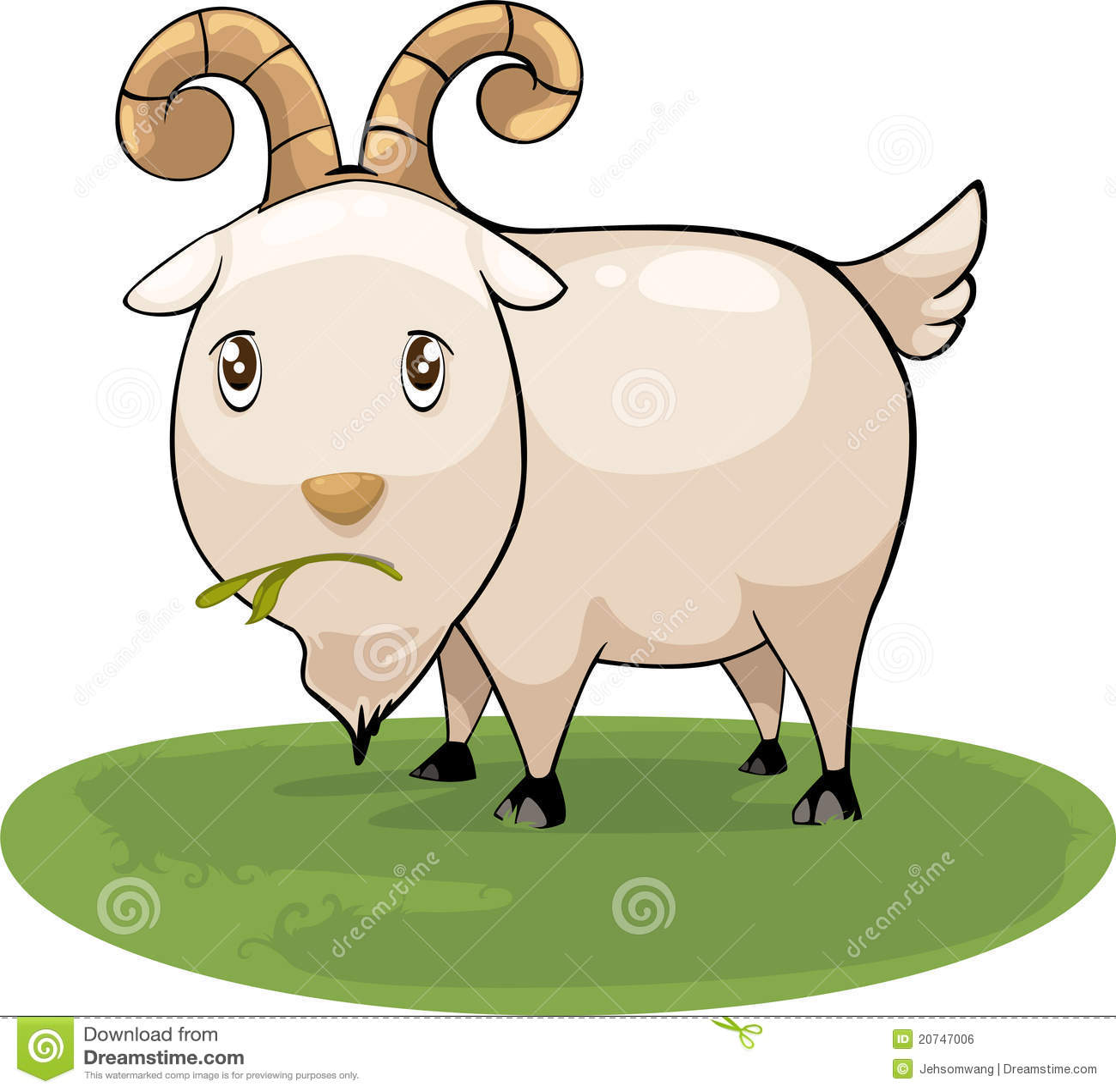 Cartoon goat vector stock vector  Illustration of baby