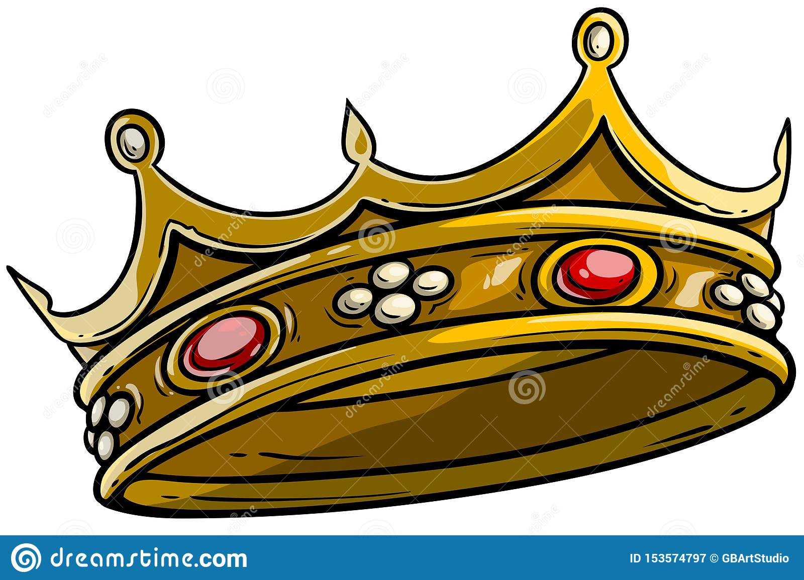 Cartoon Golden Royal King Crown Vector Stock Vector Illustration Of Precious Queen 153574797 Gold king crown vector ai, queen crown illustrator, crown logo design, princess tiara clipart vector images. https www dreamstime com cartoon golden royal king crown vector diamonds gems isolated white background icon vol image153574797
