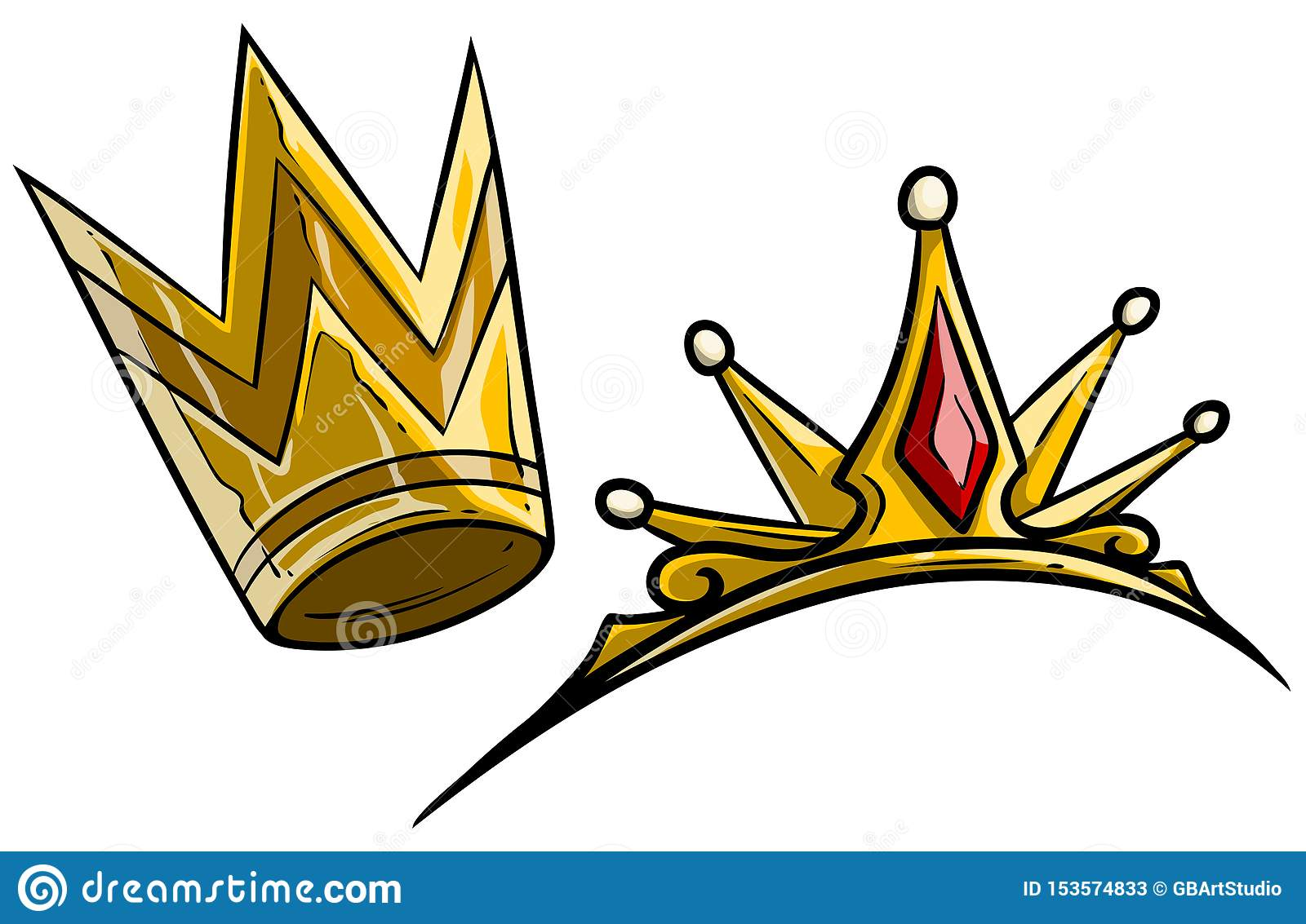 Cartoon Golden Royal Queen Crown Vector Stock Vector Illustration Of Emperor Monarchy 153574833 Its painted with golden dye, patterns are painted with green and purple dyes. https www dreamstime com cartoon golden royal queen crown vector diamonds gems isolated white background icon image153574833