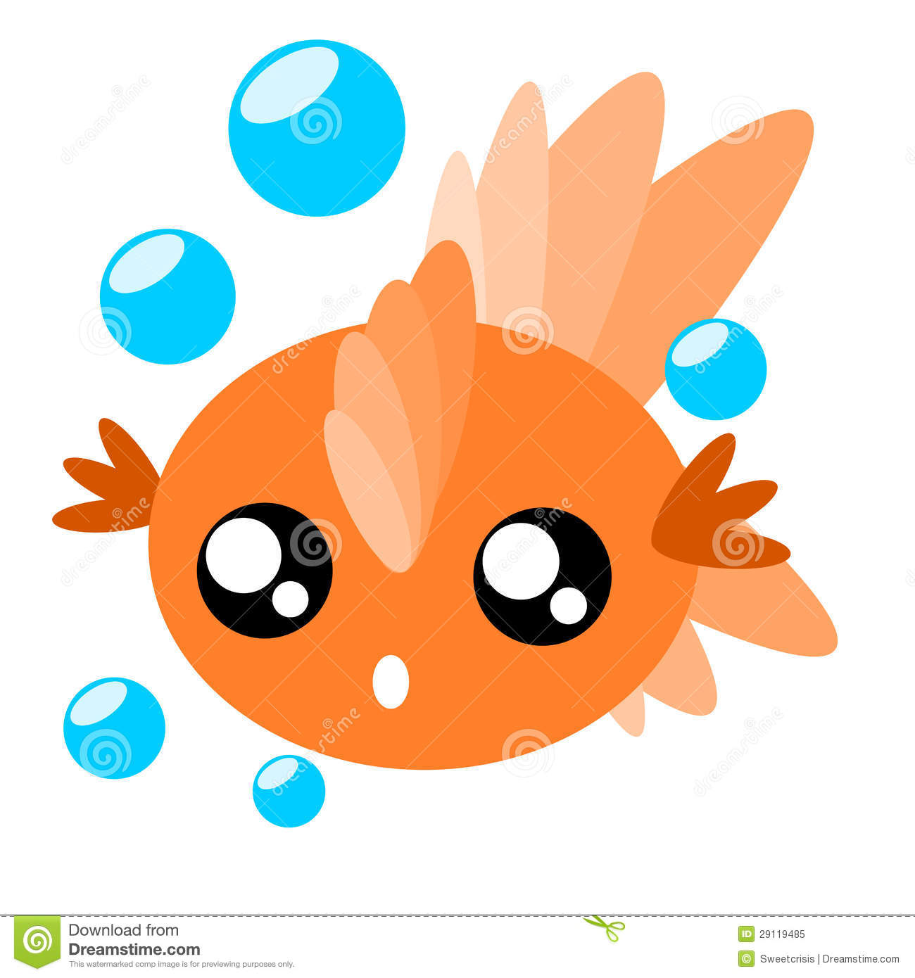 Cartoon Goldfish Illustration Royalty Free Stock Photo Image