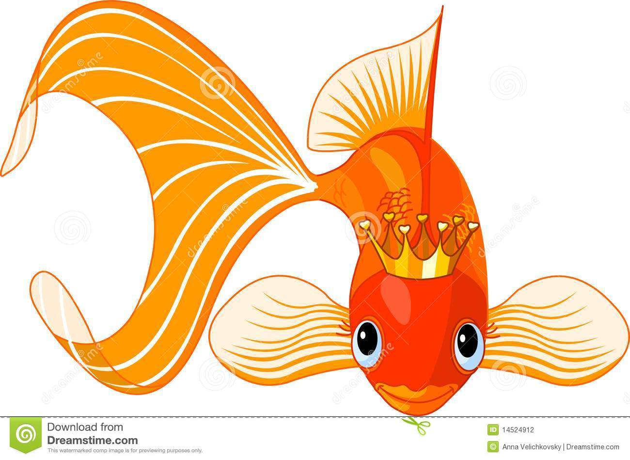 Cartoon goldfish illustration royalty free stock photo image - Royalty Free Stock Photo Cartoon Goldfish Queen Stock Photography