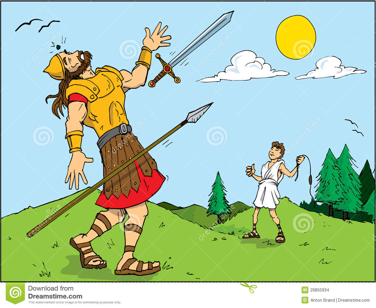Cartoon Of Goliath Defeated By Stock Images - Image: 20855934