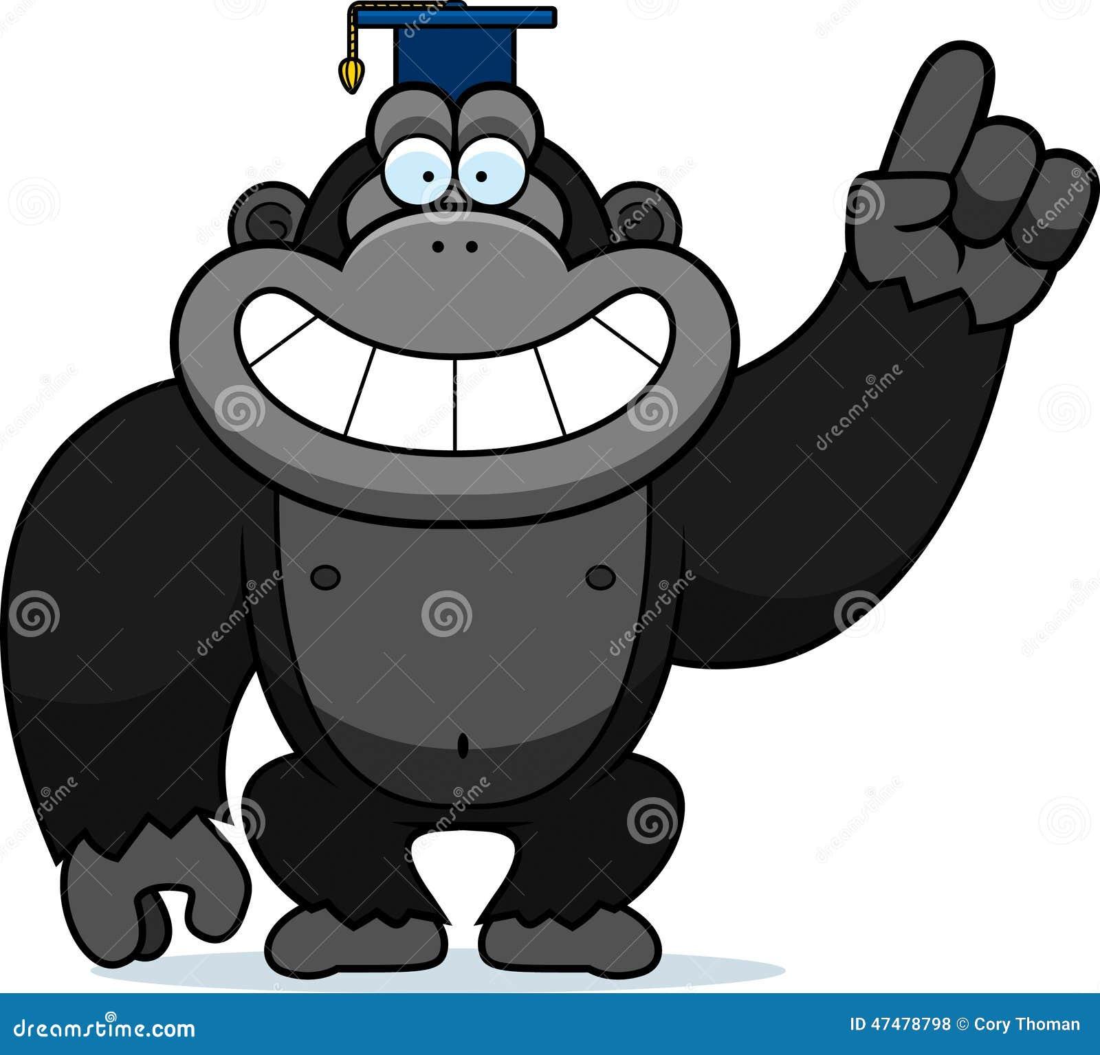 Cartoon Gorilla Professor Stock Vector - Image: 47478798