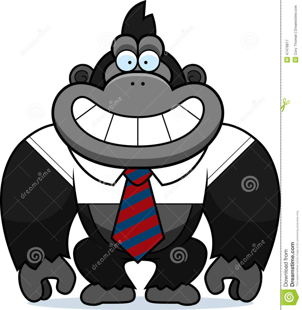 Cartoon Gorilla Tie Stock Vector - Image: 47478817