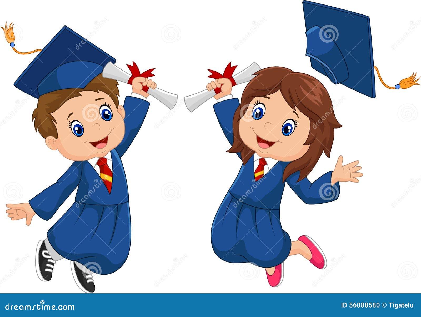 cartoon graduation celebration stock vector image 56088580 Graduation Cap and Gown Clip Art free graduation cap and diploma clipart